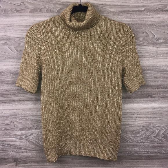 Liz Claiborne Sweaters - Liz Claiborne tan gold turtleneck knit sweater M